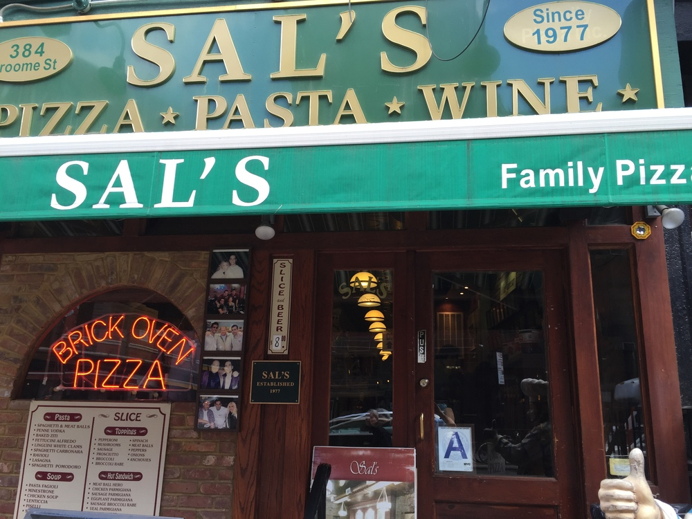 Sal's Little Italy storefront, 2015