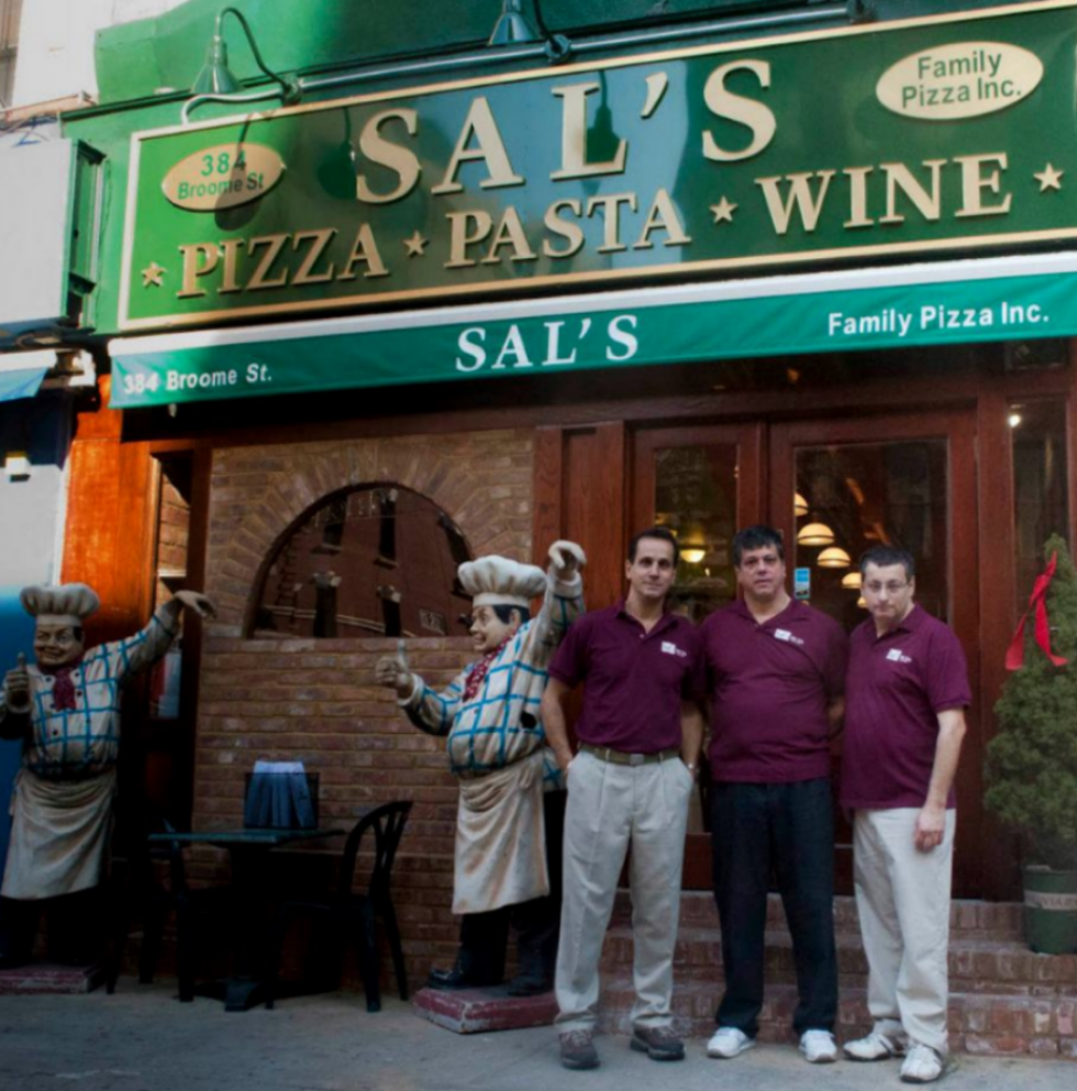 Francesco, Enzo and Max, circa 2012, in front of the newly constructed Sal's Little Italy.