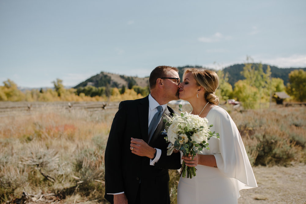 Father and Bride in Jackson Hole Wedding