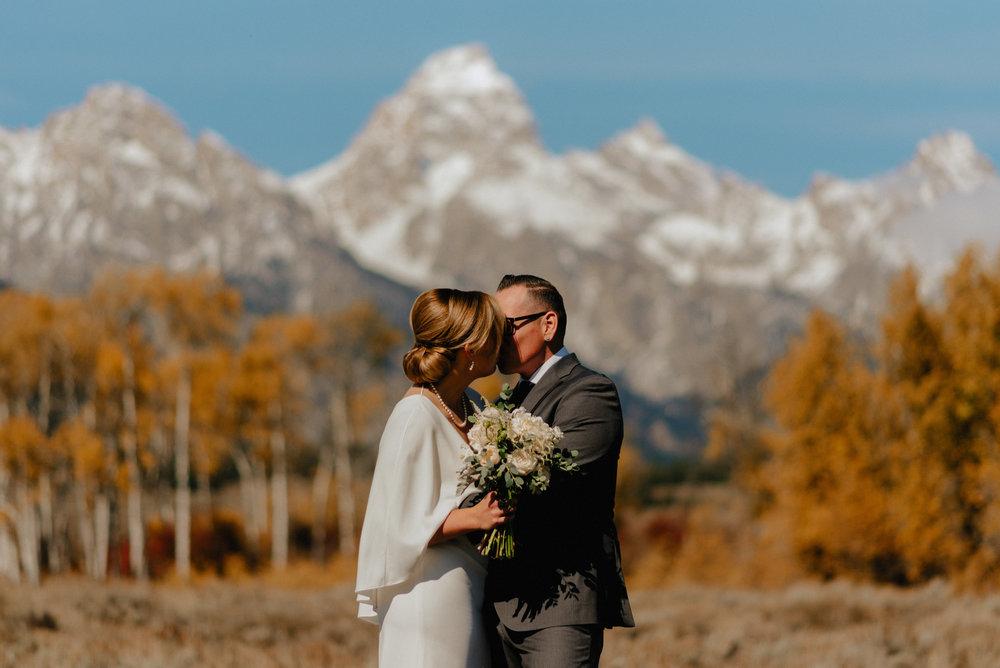 Afternoon Autumn Wedding Photography, Grand Teton National Park, Jackson Hole WY