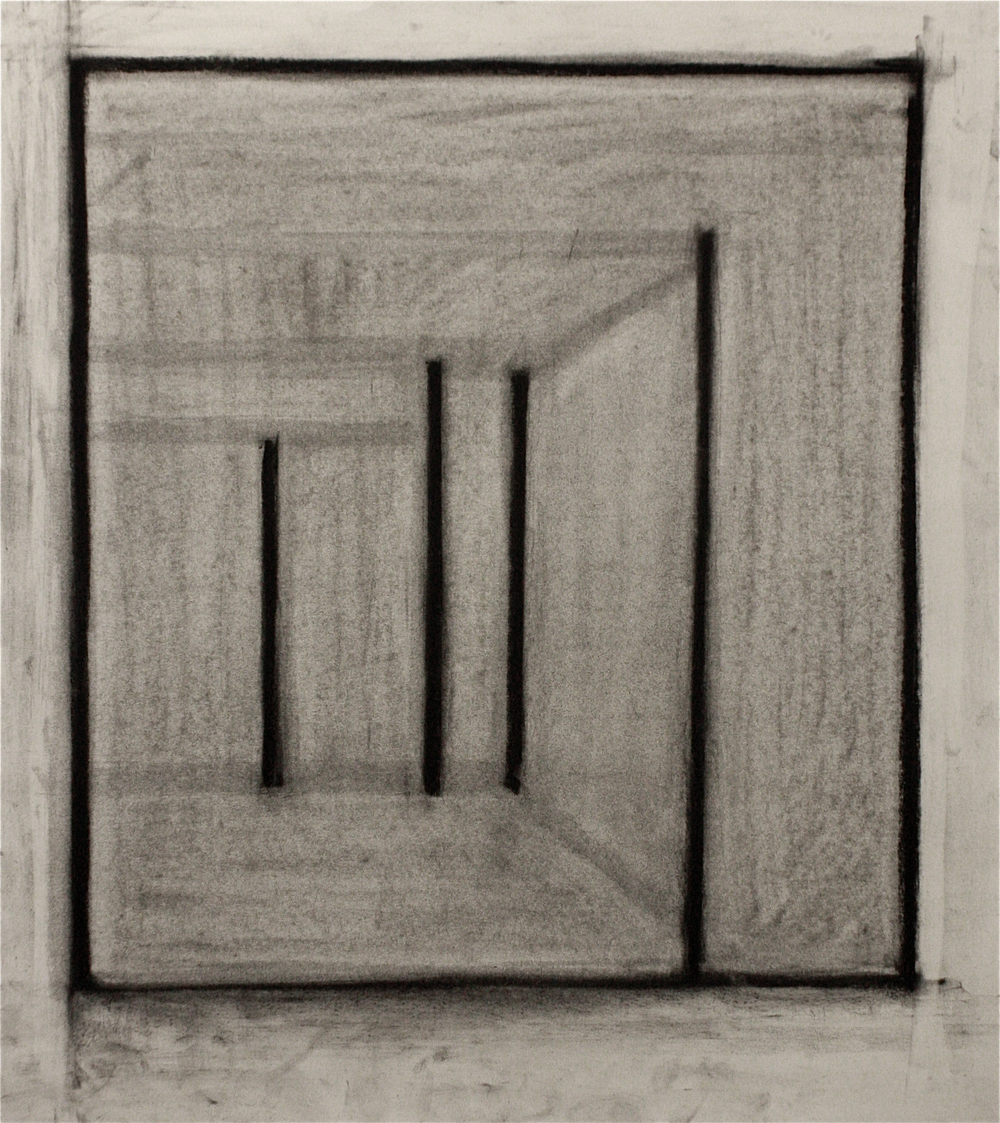 PS013, Charcoal on paper, 48.3x40.5cm