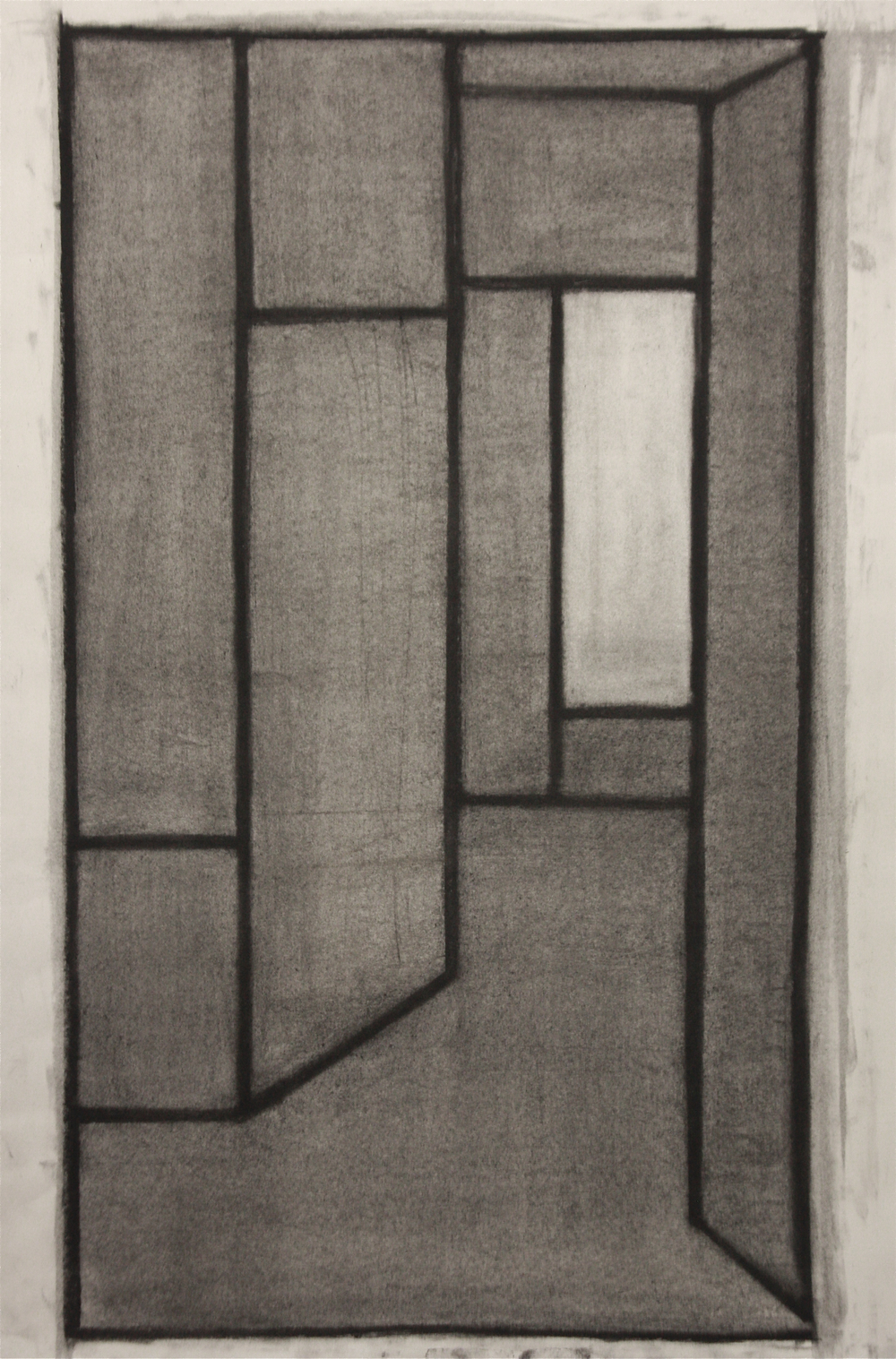 PS012, Charcoal on paper, 55x32.5cm