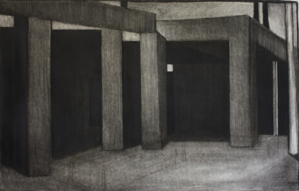 Gateway, Charcoal on paper, 54.5x81cm