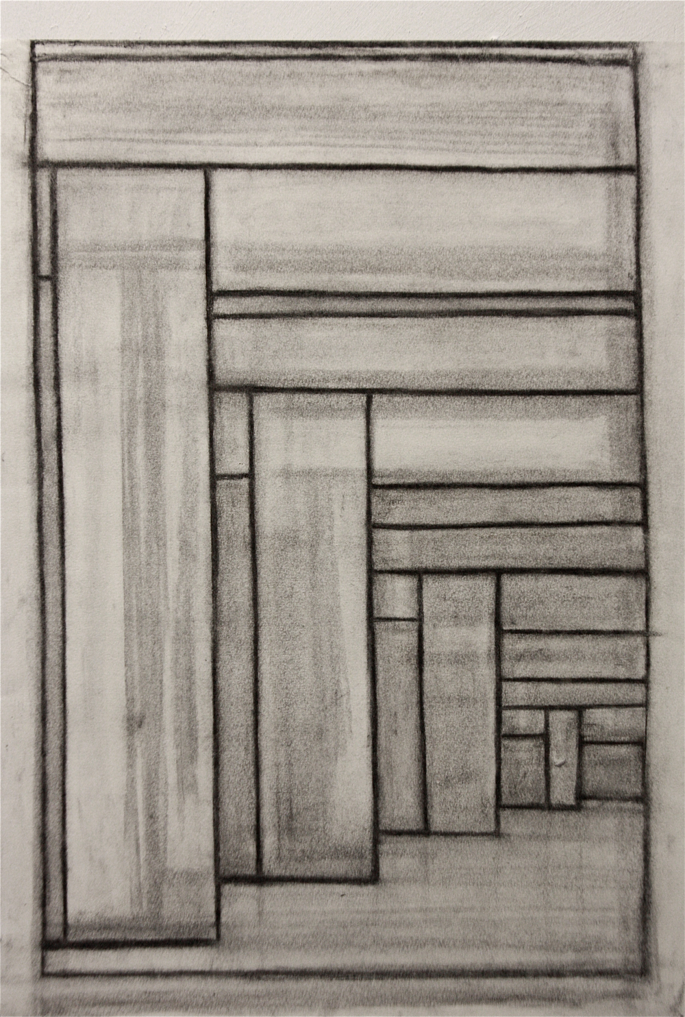 PS002, Charcoal on paper, 53.5x40cm