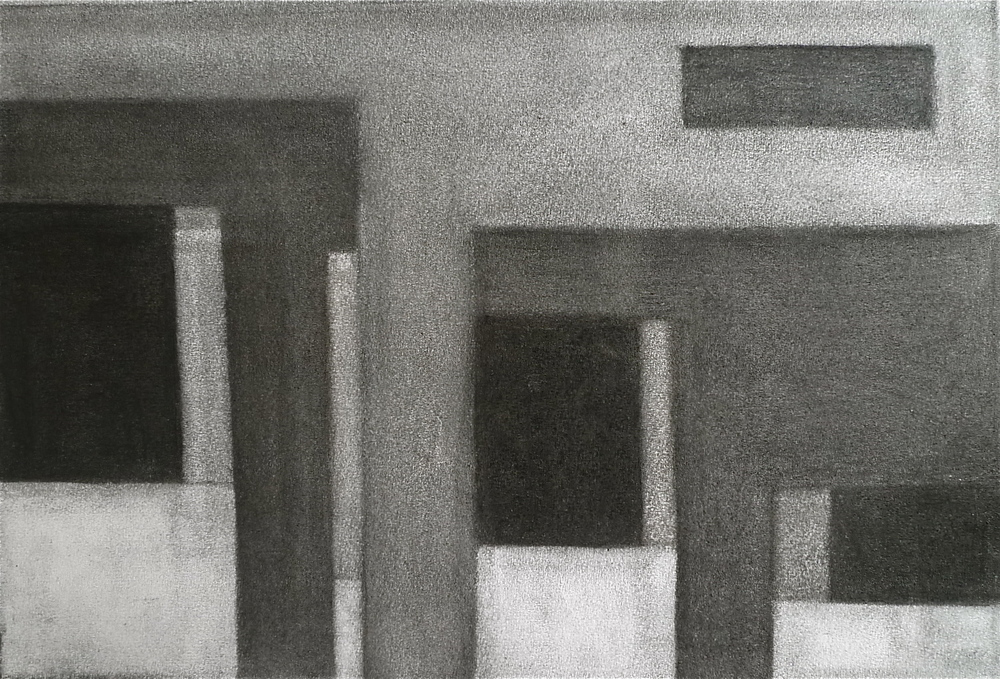 PS015, Charcoal on paper, 28.5x38.5cm