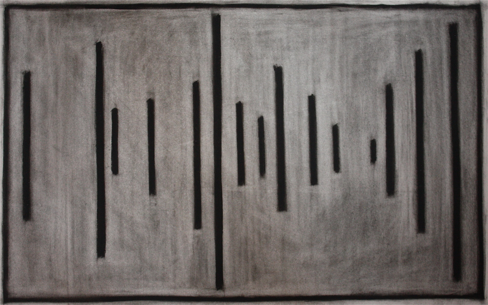 PS003, Charcoal on paper, 39.5x57.8cm