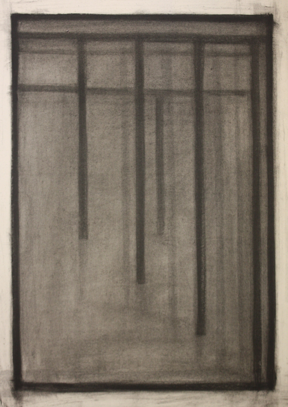 PS011, Charcoal on paper, 52x38.5cm