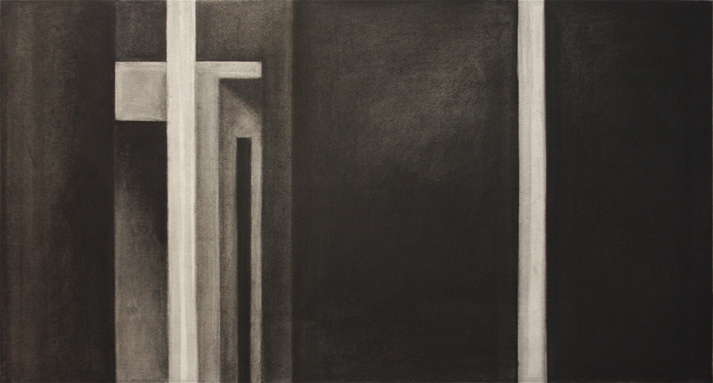 PS019, Charcoal on paper,55x87.5cm