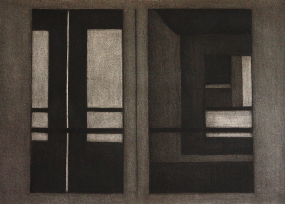 PS018, Charcoal on paper, 56.5x86.5cm