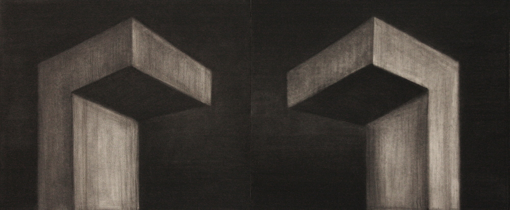 Sound 001, Charcoal on paper,71x115cm