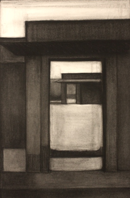 Spice Doors, Charcoal on paper, 59x41.5cm