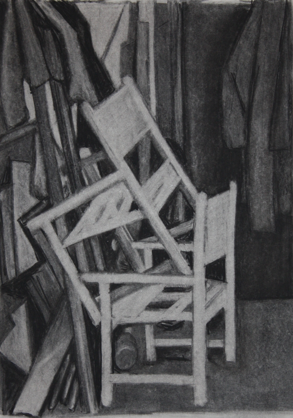 Stack, Charcoal on paper
