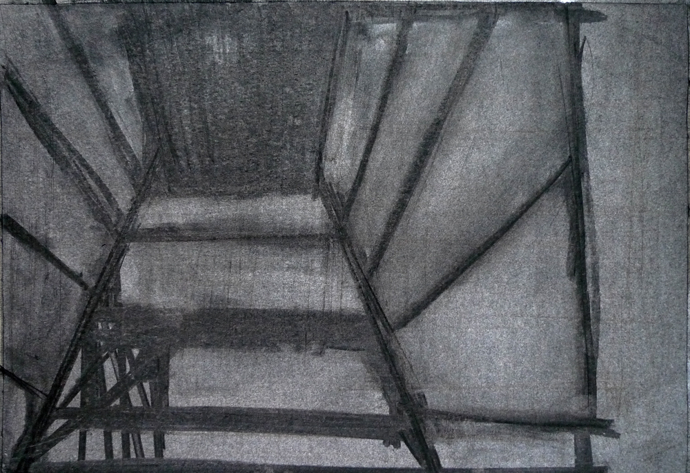 Void, Charcoal on paper, 27.3x39.5cm