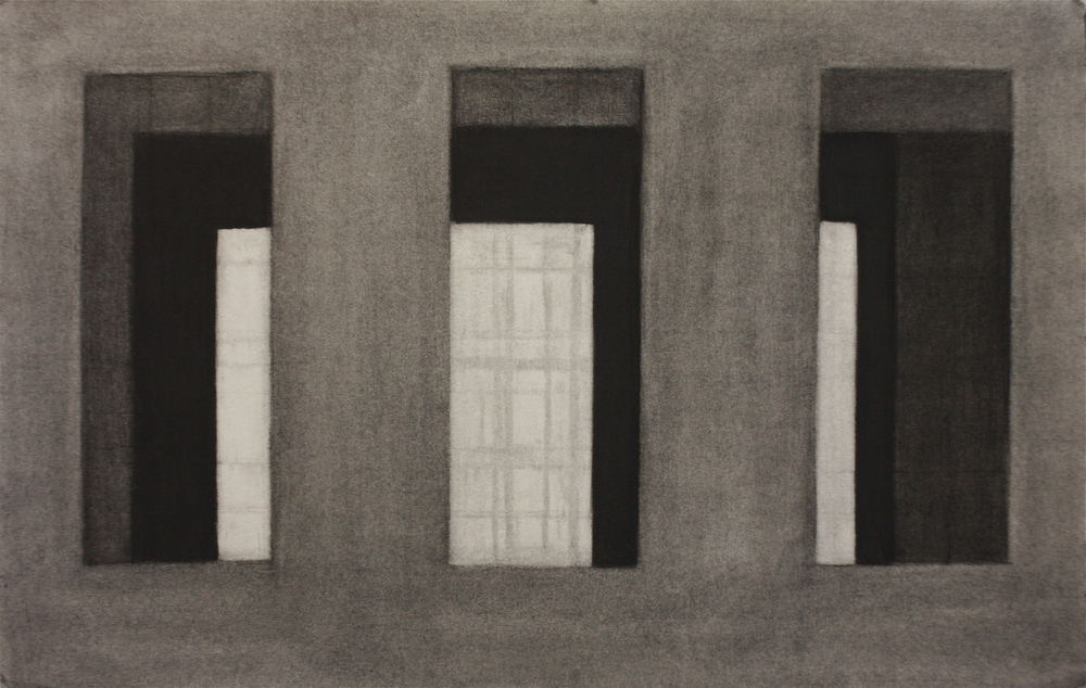 PS020, Charcoal on paper, 29.5x45.5cm