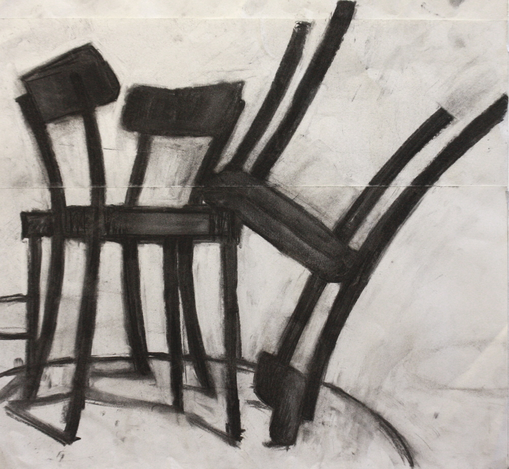 Trip, Charcoal on paper