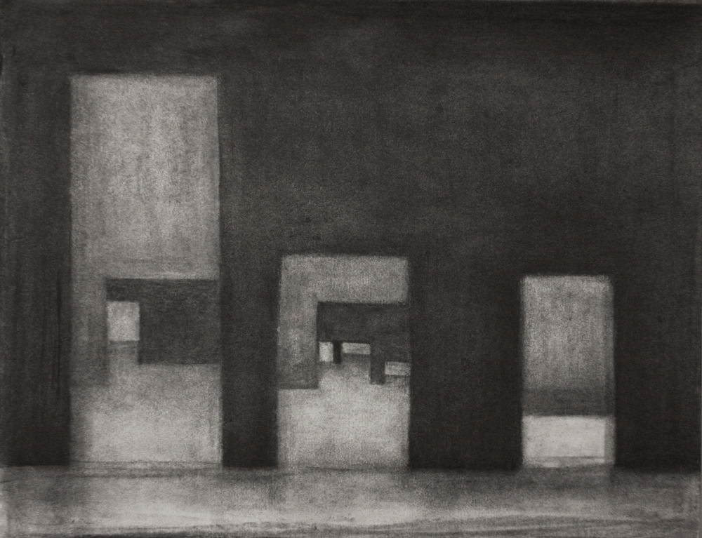 PS016, Charcoal on paper, 33.2x42cm