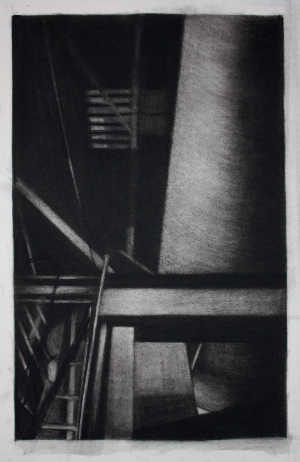 Detroit Series 001, Charcoal on paper, 71.5x53cm