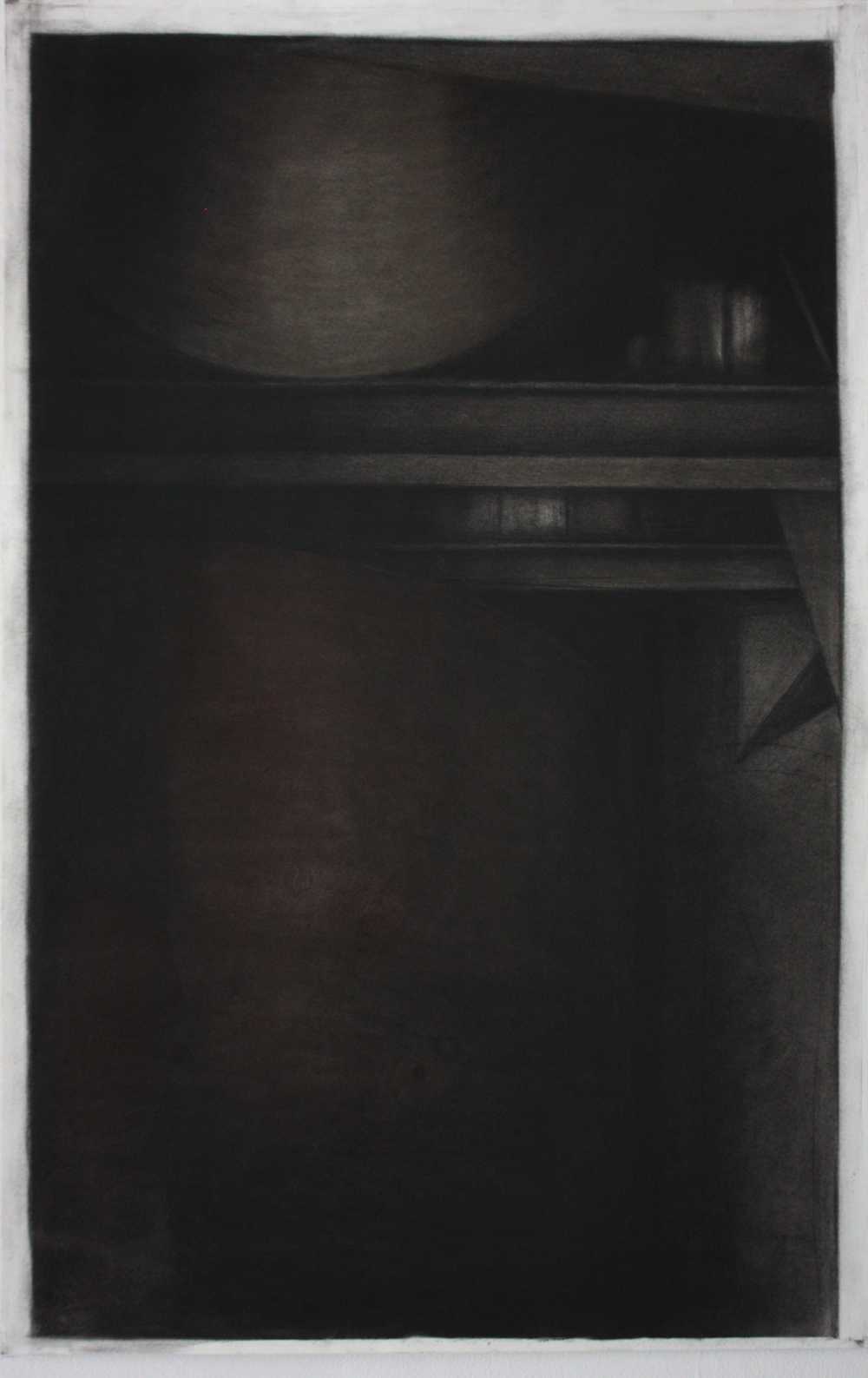 Detroit Series 002, Charcoal and pastel on paper, 89x57.5cm