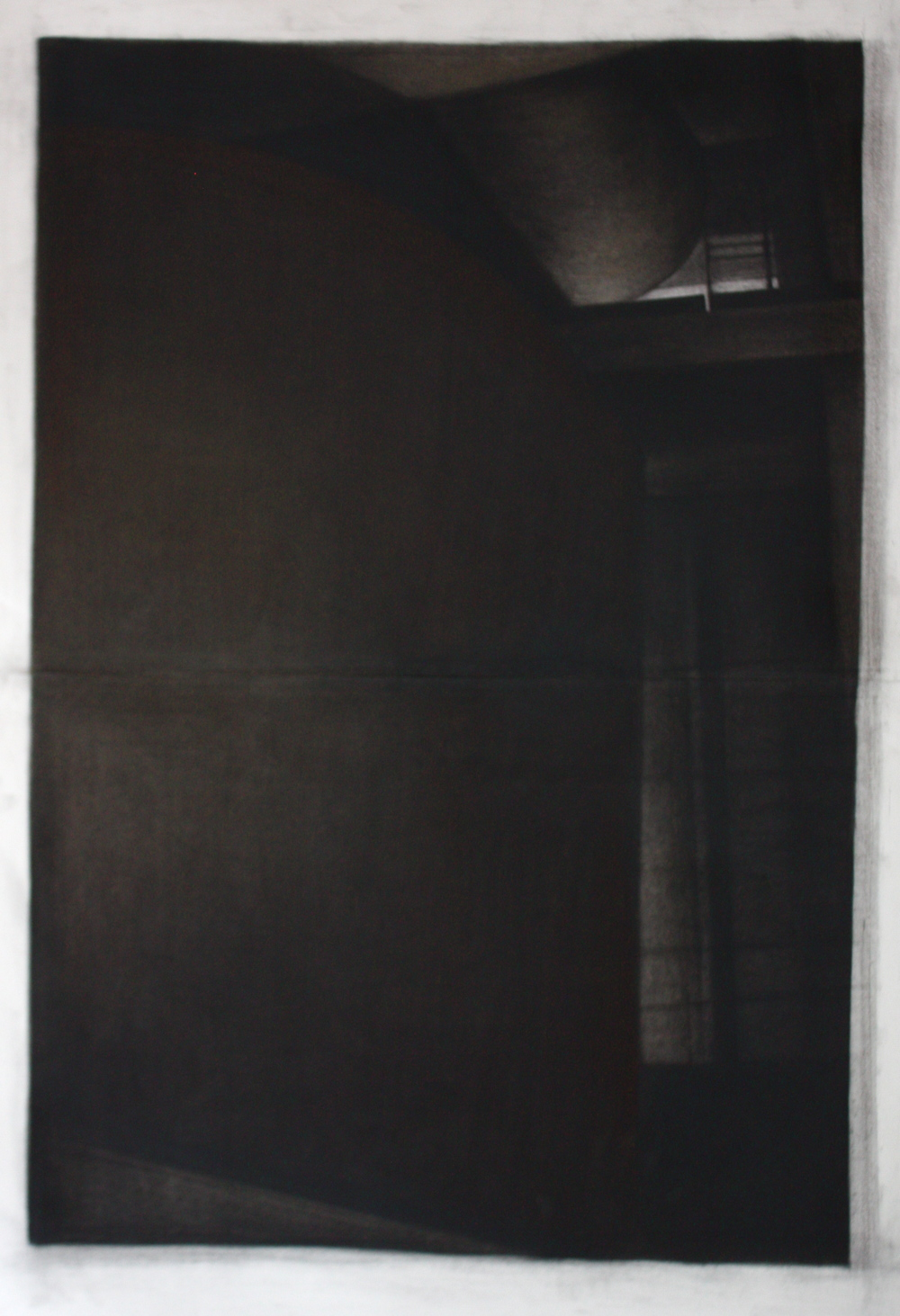 Detroit Series 003, Charcoal and pastel on paper, 115x89cm