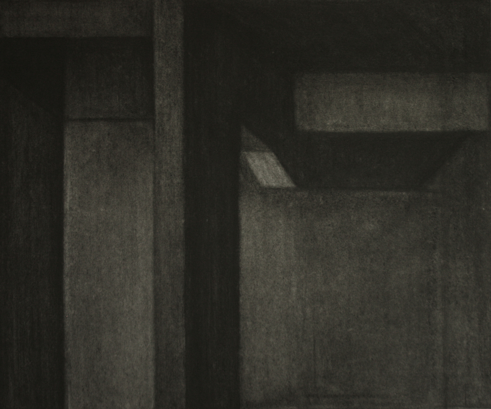 K-001, Charcoal on paper, 44x53cm