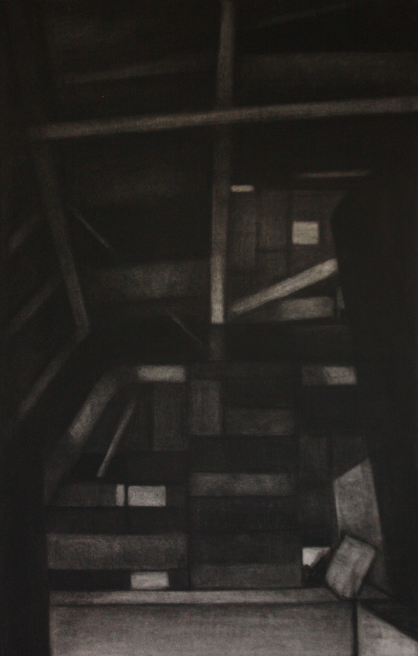 Detroit Series 007, Charcoal on paper, 75x49cm
