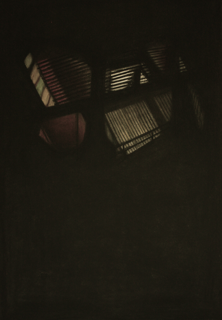 Detroit Series 010, Charcoal and pastel on paper, 77x54cm