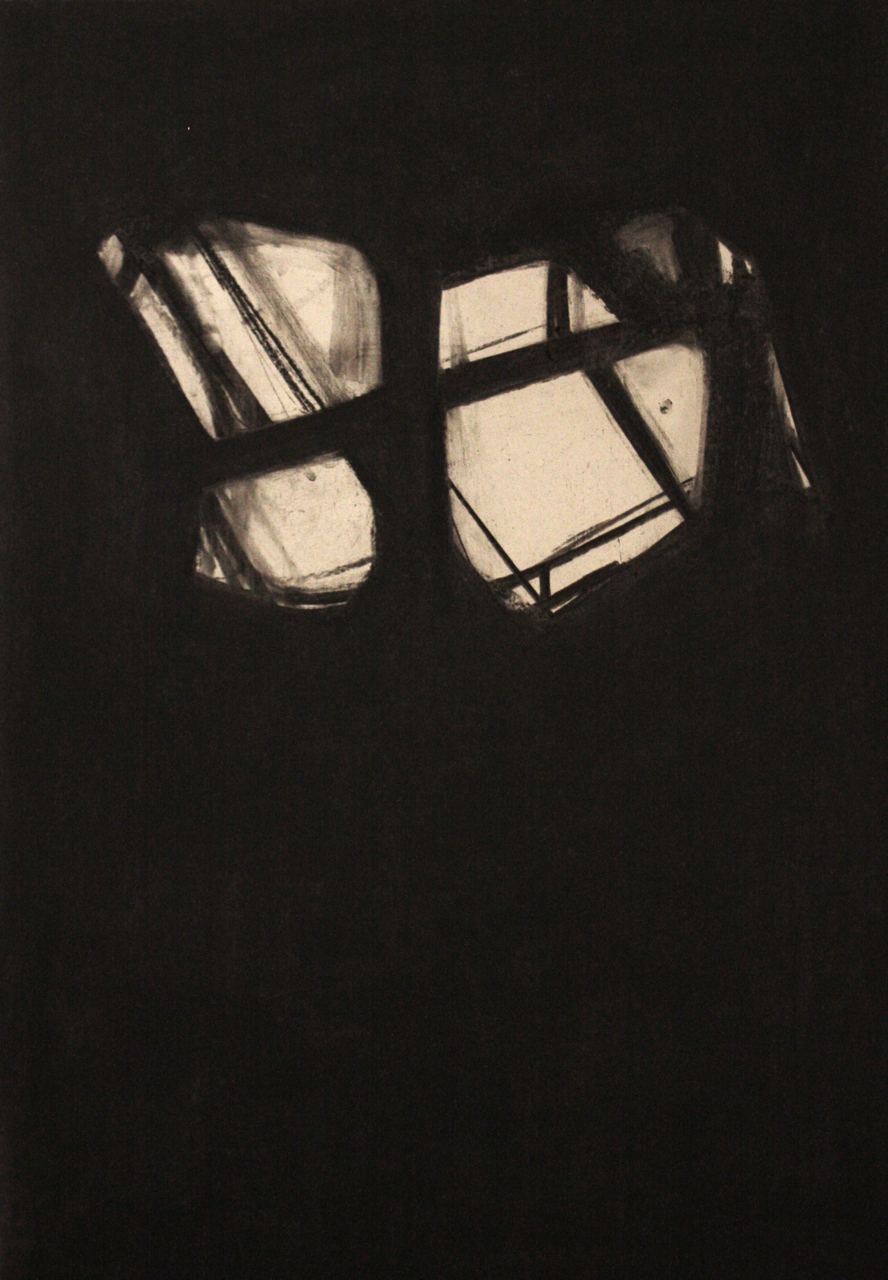 Detroit Series 012, Charcoal on paper, 76x53cm