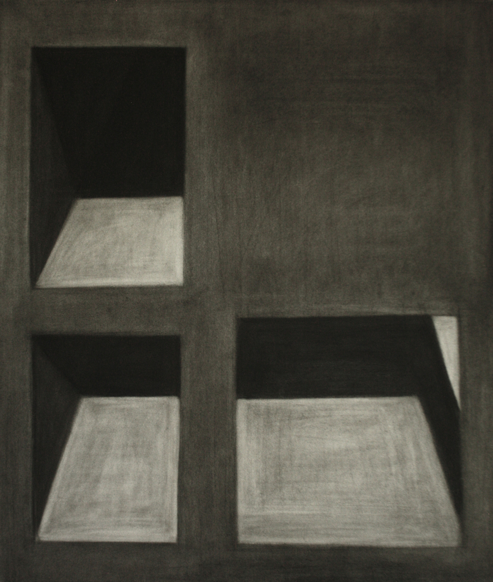 Detroit Series 011, Charcoal on paper, 61x52cm