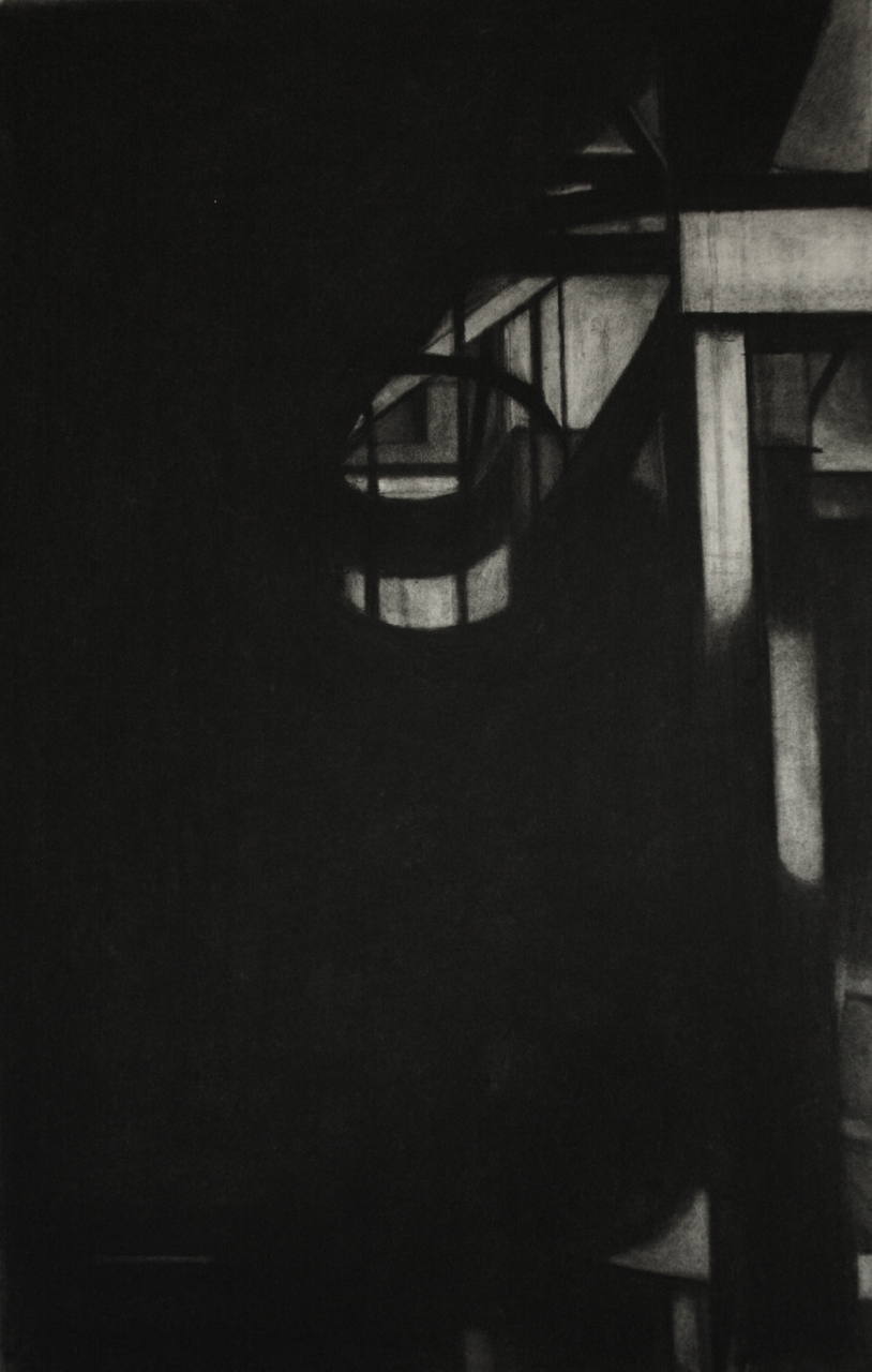 Detroit Series 005, Charcoal on paper, 74x46cm