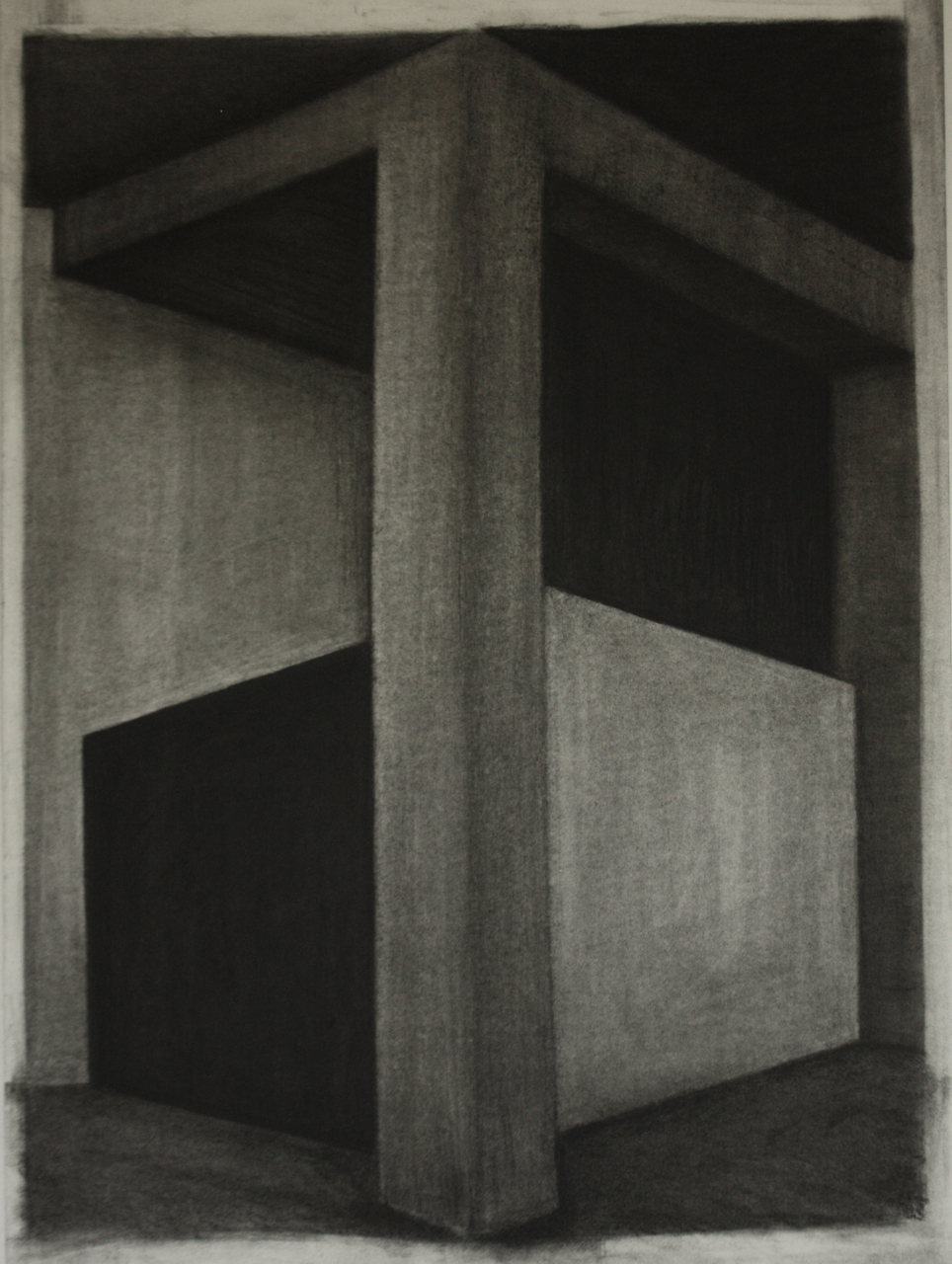 K-002, Charcoal on paper, 74x54cm