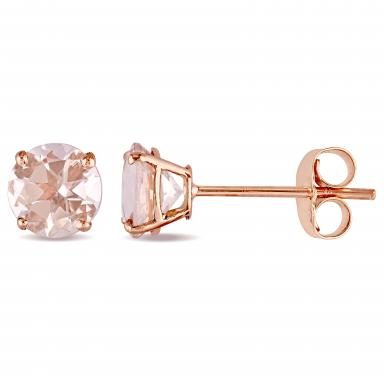 For The One Who Makes You Sparkle - These JULIANNA B 14K MORGANITE STUD EARRINGS from Charm Diamond Centre are simple enough to wear everyday but special because they are rose gold.