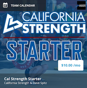 California strength starter program