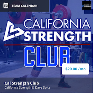 california strength club program