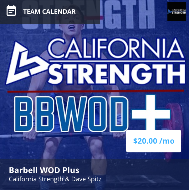 THE BARBELL WOD Plus IS AN ONLINE STRENGTH PROGRAM FOR CROSSFIT AND COMPETITIVE FITNESS ATHLETES