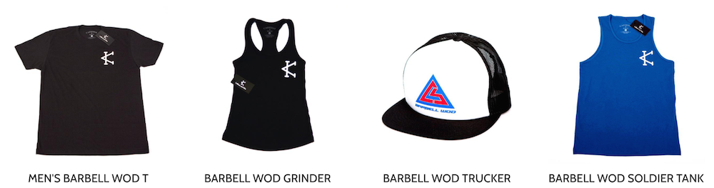 the barbell wod collection produced by caffeine and kilos