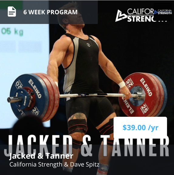 Jacked & Tanner Training Program on Trainheroic