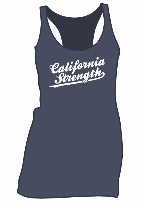 c9daf3b9d2ce8 WOMEN S SCRIPT LOGO RACERBACK TANK — California Strength