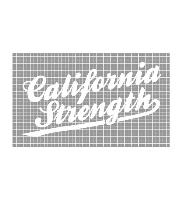 46c21f705799b Cal Strength Script Vinyl Decal