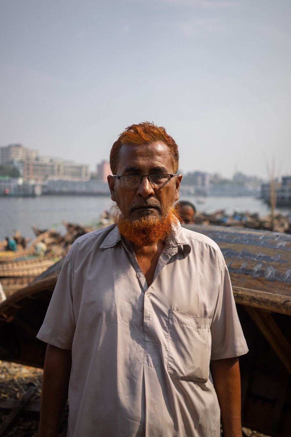 Muhammad Salim Khah, from Barishal, owns 400 of these boats and has been in Dhaka 36 years.
