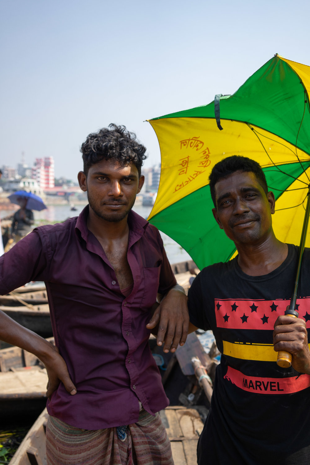 Mohammed Jakir, from Madaripur, with a friend.