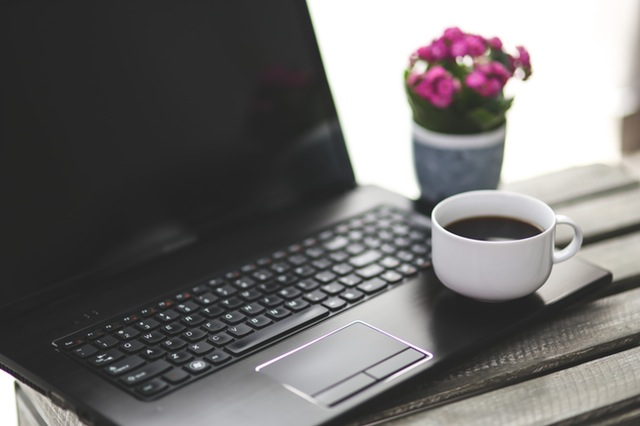 pexels free stock photo site laptop coffee pollen advertising