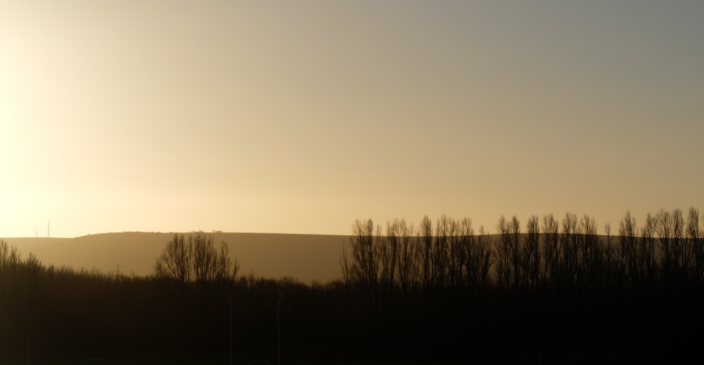 Sunrise over the South Downs by Katie Vandyck