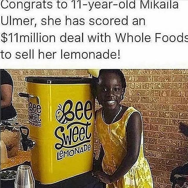 Start them young and start them early. Their is no limit to what empowered youth can accomplish. __ __ #theblackburdell  __ __ #smallbiz #smallbizowner #blackbusiness #blackgirlmagic #founder #startup #ceo #entrepreneurship #entrepreneur #lemonade #wholefoods