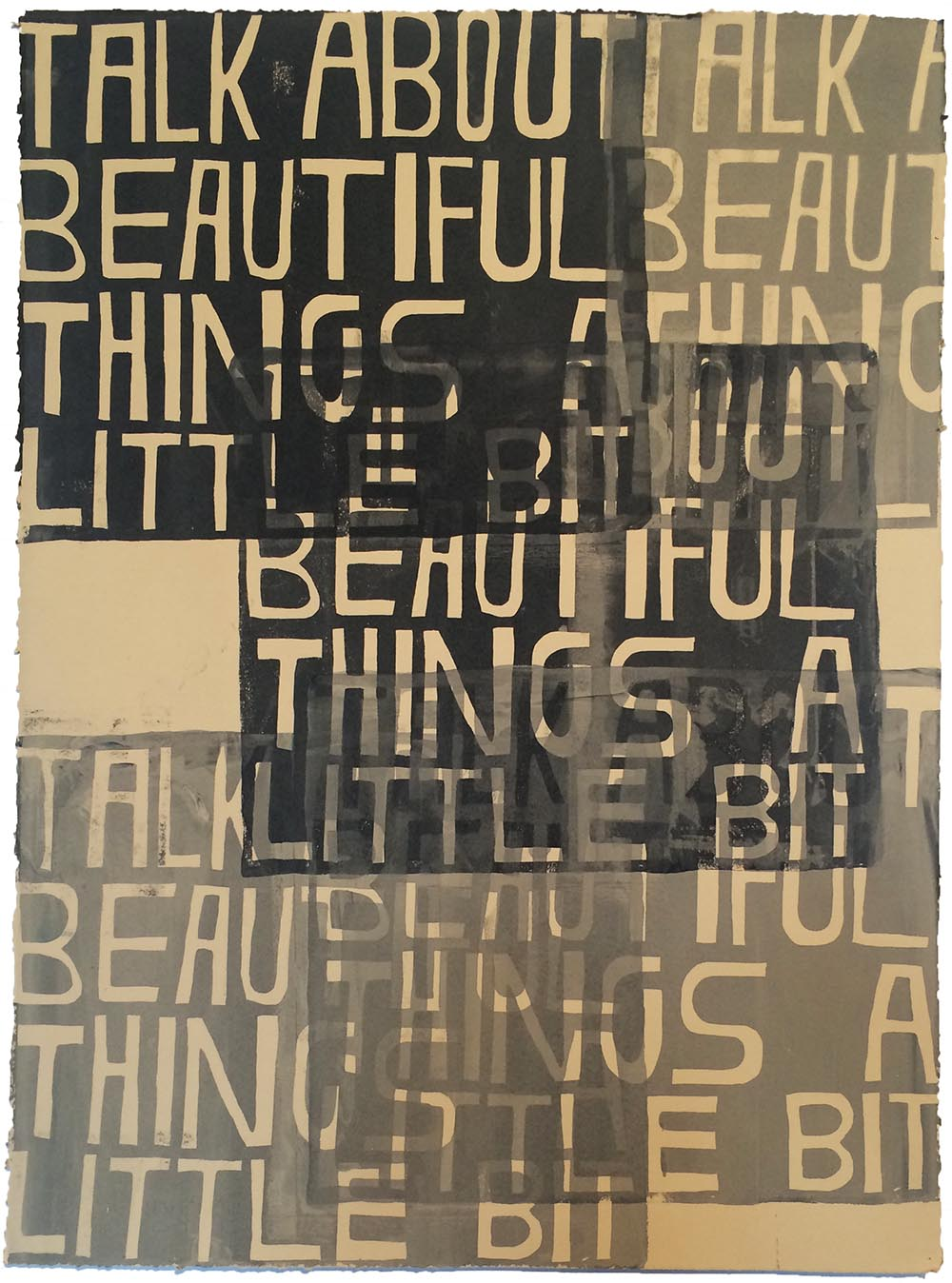 Talk About Beautiful Things #2 , 2013,ink on paper