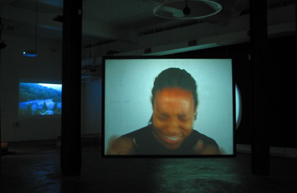 Baby Got Back ,  2004,   video, 3min loop, projection, speakers. ( see video )