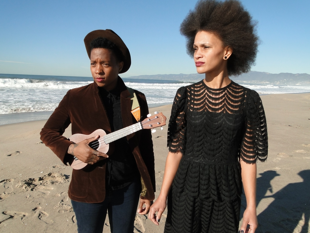 Offering--Pacific, (with Jamila Raegan), 2016, voice, ukulele, altar, Venice Beach, CA