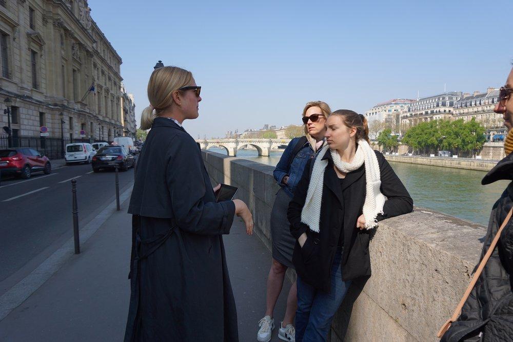 On the  Women of Paris  walking tour.