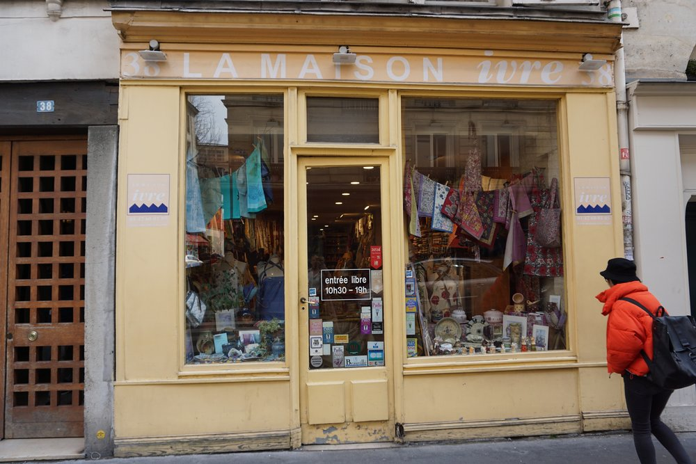 French linen stores are wonderful. I always come back with a new tablecloth & tea towel.