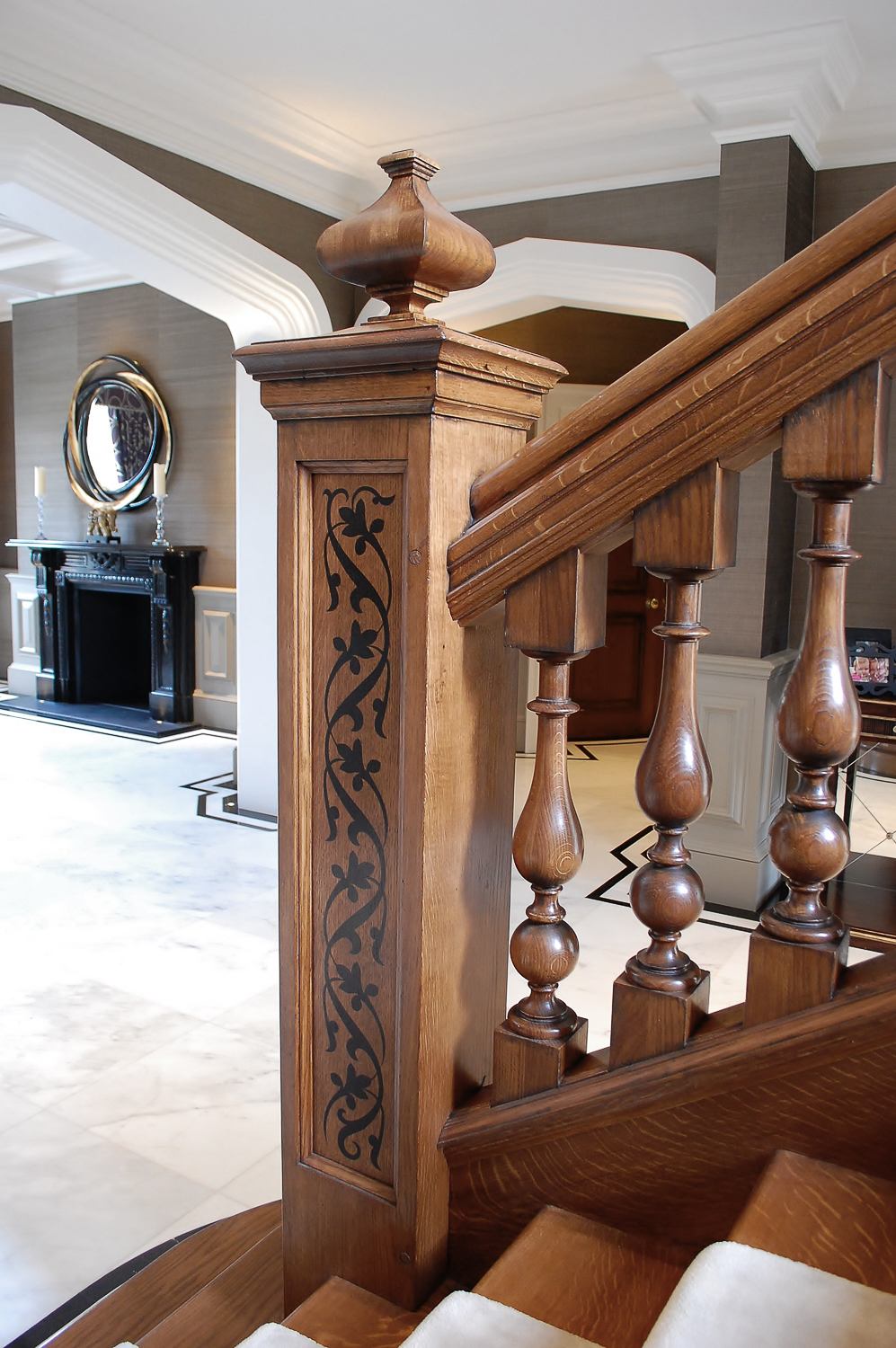 Grand Oak Staircase And Hall Project 1175