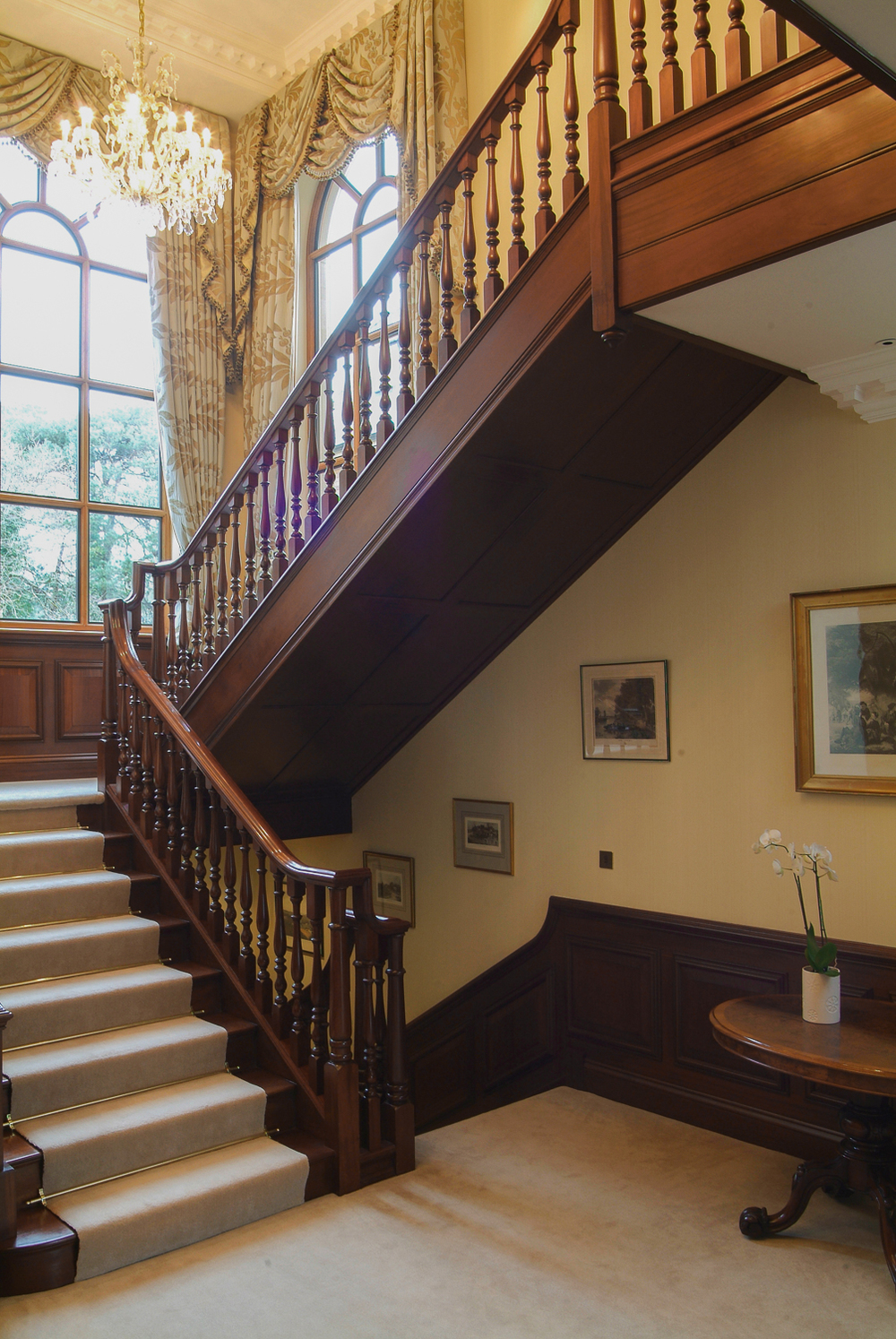 18th century georgian style staircases and panelling for Georgian staircase design